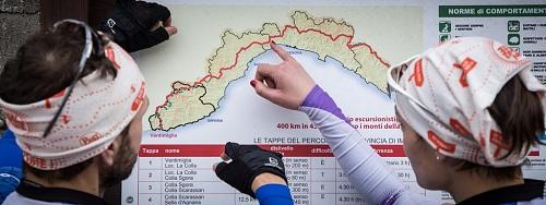 L'impresa sportiva, di corsa lungo l'Alta Via dei monti liguri