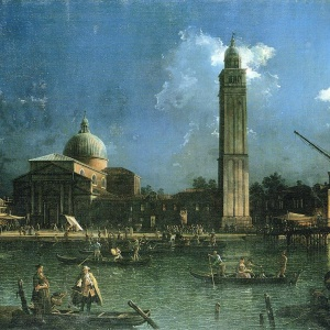 The view of a Venetian festival